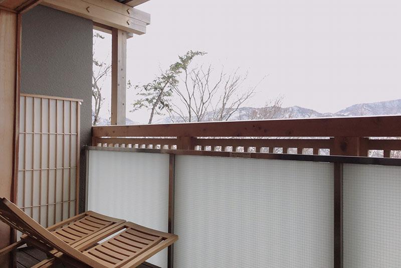 円かの杜 客室露天