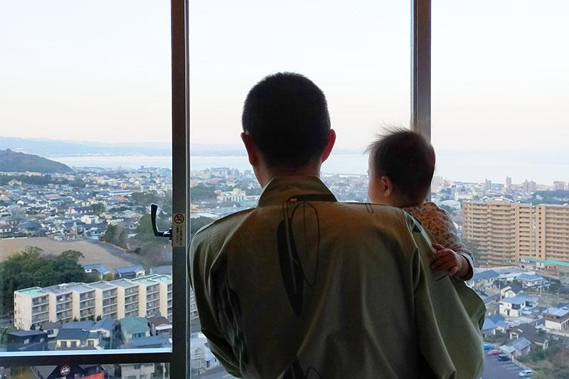 「杉乃井ホテル」の広々とした客室