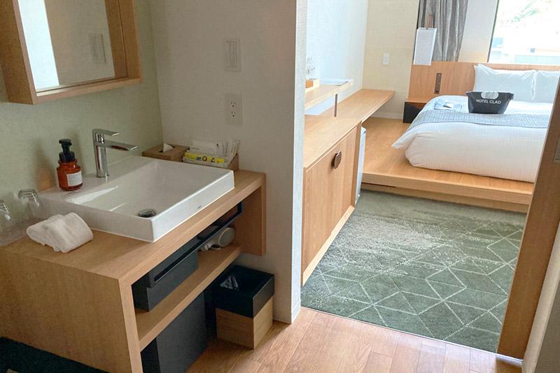 「ホテルクラッド」の客室は使い勝手良し