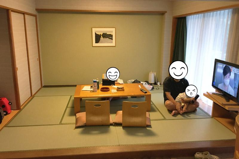 「湯本富士屋ホテル」の広い客室は使い勝手良し