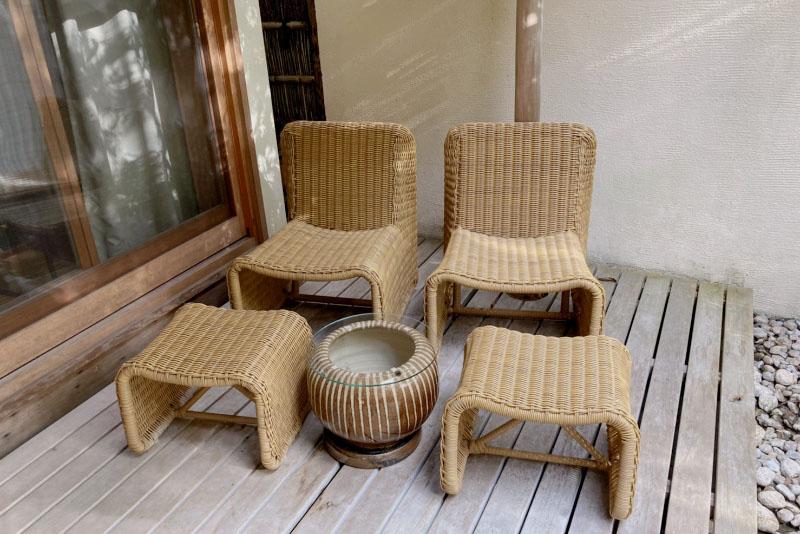 「強羅花壇」の客室露天風呂