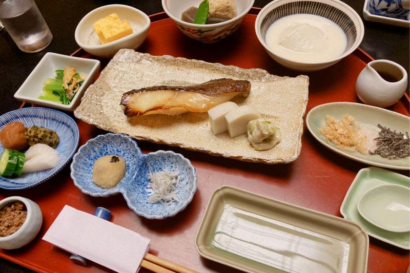 「強羅花壇」の朝食